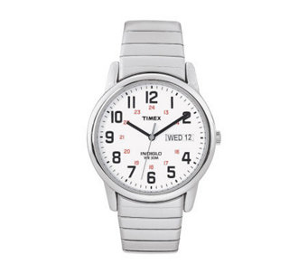 Timex Men's Easy Reader Stainless Steel Watch &Expansion Band - J102903