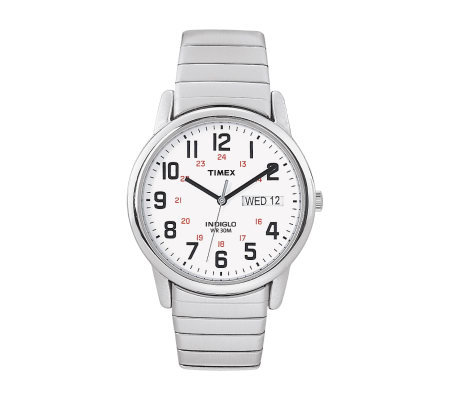 Timex Men's Easy Reader Stainless Steel Watch &Expansion Band