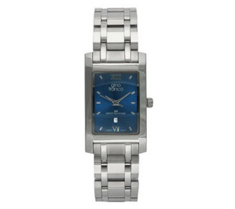 Gino Franco Men's Stainless Steel Bracelet Watch - Rectangula - J105703