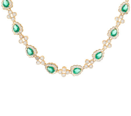 Jacqueline Kennedy Simulated Emerald Necklace