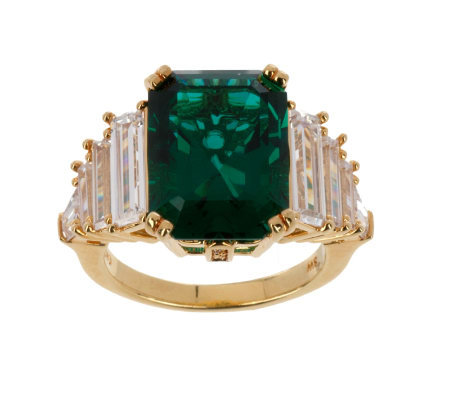Smithsonian Simulated Emperor Maximilian Emerald Ring