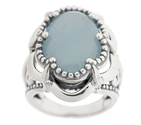 Carolyn Pollack Aquamarine Sterling Ring