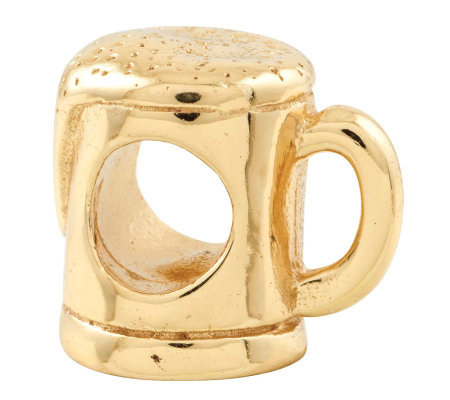 Prerogatives 14K Yellow Gold-Plated Sterling Beer Mug Bead