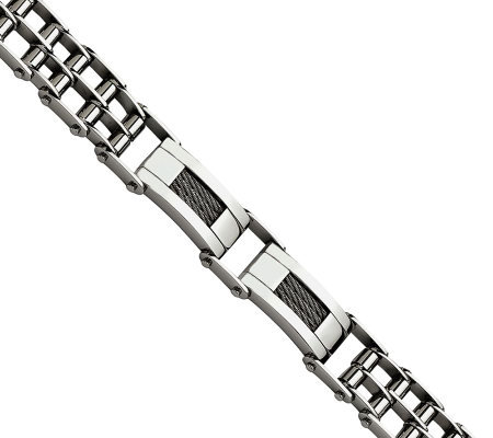 "Forza 8-1/2"" Wire Polished Bracelet"