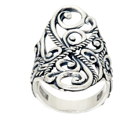 Carolyn Pollack Sterling Silver Signature Saddle Ring