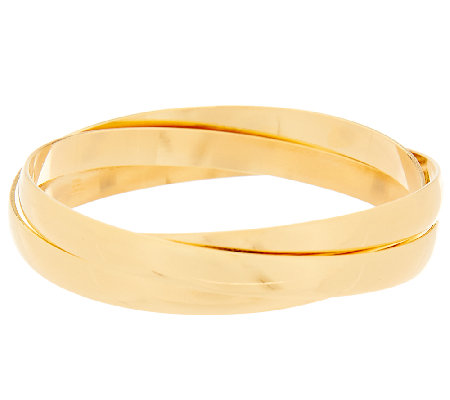 Bronze Polished Round Rolling Bangles by Bronzo Italia