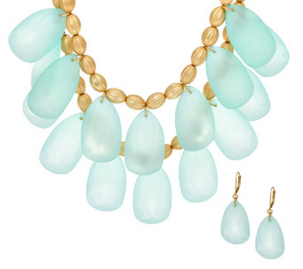 Linea by Louis Dell'Olio Frosted Necklace and Earring Set - J321803