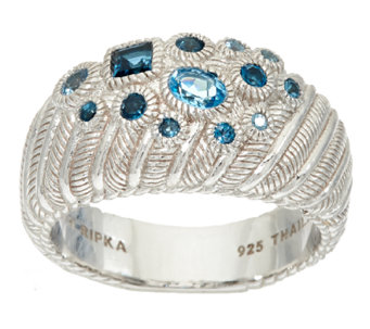 Judith Ripka Sterling Scattered Blue Topaz Ring - J322503