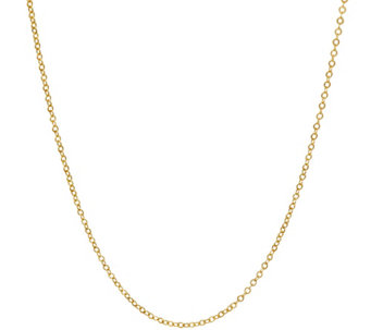 """As Is"" Vicenza Gold 16"" Polished Oval Rolo Link Chain 18K, 1.0g - J330703"