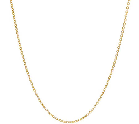 """As Is"" Vicenza Gold 16"" Polished Oval Rolo Link Chain 18K, 1.0g"