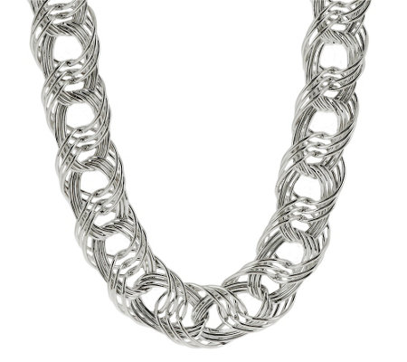 """As Is"" Sterling Bold Woven 20"" Necklace 51.50g"