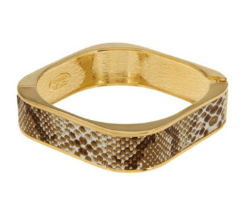 """As Is"" Kenneth Jay Lane's Simulated Snake Skin Bangle Bracelet - J333103"