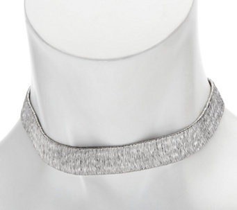 Vicenza Silver Diamond Cut Sterling Choker Necklace, 20.5g - J334203