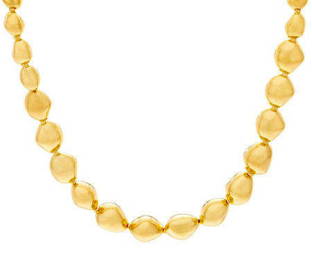 "Oro Nuovo 18"" Polished Nugget Necklace, 14K"