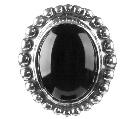American West Treasures Sterling Black Chalcedony Insert