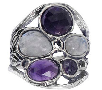 Or Paz Sterling Multi-Gemstone Ring - J338303