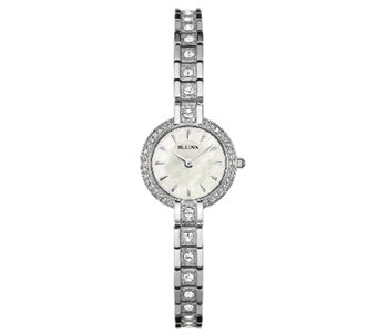 Bulova Women's Silvertone Crystal Accent Bracelet Watch - J339003