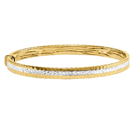 Diamond-Cut Average Bangle, 14K Gold
