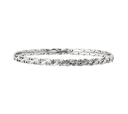 Simply Stacks Sterling Carved Braided Bangle