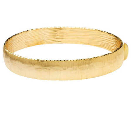 Arte d'Oro Large Satin Finish Bangle 18K Gold,16.10g