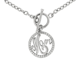 "Sterling ""Mom"" 18"" Toggle Necklace - J342603"
