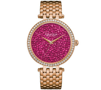 Caravelle New York Women's Watch w/ Berry RockCrystal Dial - J344203