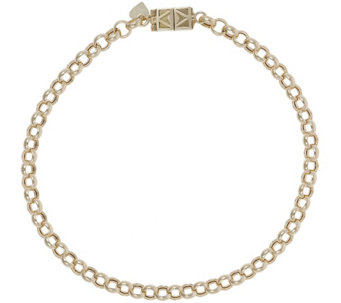 "Vicenza Gold 6-3/4"" Rolo Bracelet with Click Secure 14K, 2.8g - J345603"