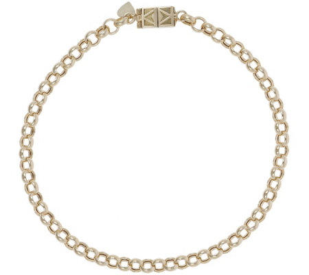 "Italian Gold 6-3/4"" Rolo Bracelet with Click Secure 14K, 2.8g"