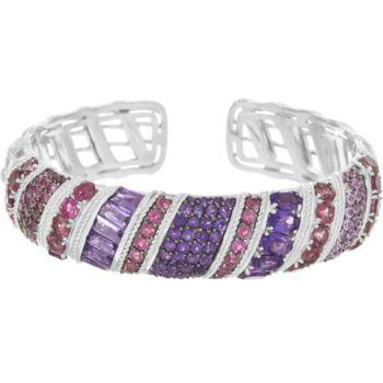 Judith Ripka Sterling 12.70 cttw Multi Gemstone Cuff Bracelet
