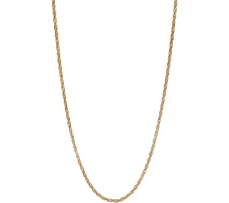 """As Is"" 14K Gold 20"" Rope Chain Necklace, 10.4g"