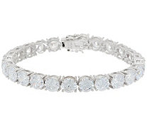 Diamonique Royal Collection Tennis Bracelet Sterling Silver - J356203