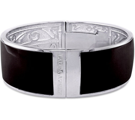 Laura Ashley Black Enamel Bangle