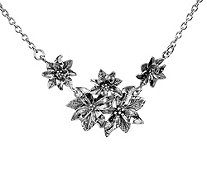 Or Paz Sterling Silver Multi-flower Necklace - J384203