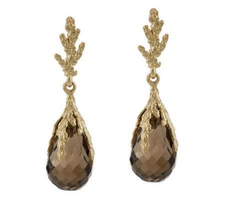 Adi Paz 9 00 Ct Tw Gemstone Dangle Earrings 14k Gold