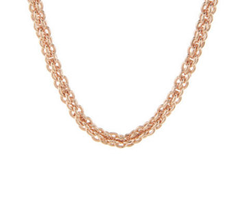 "Bronze 24"" Caged Link Magnetic Clasp Necklace by Bronzo Italia - J275704"