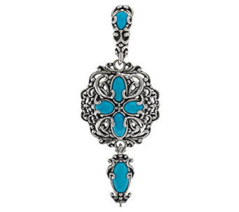 Carolyn Pollack Sleeping Beauty Turquoise Sterling Enhancer - J279204