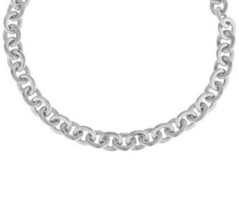"Vicenza Silver Sterling 18"" Satin Finish Rolo Link Necklace, 44.0g - J284304"