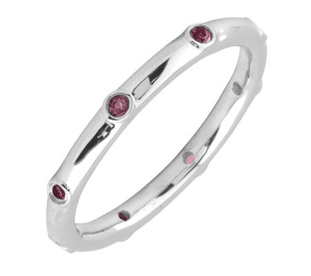 Simply Stacks Sterling Rhodolite Garnet Multi-stone Stack Ring