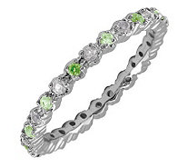 Simply Stacks Sterling Peridot & Diamond Stackable Ring - J298704