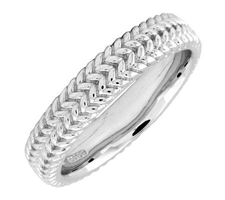 Simply Stacks Sterling Silver Zigzag 4.25mm Ring