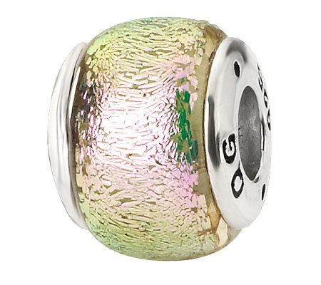 Prerogatives Sterling Light Pink Dichroic GlassBead