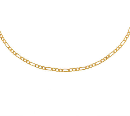 "Milor 18"" Polished Figaro Necklace, 14K Gold 11.8g"