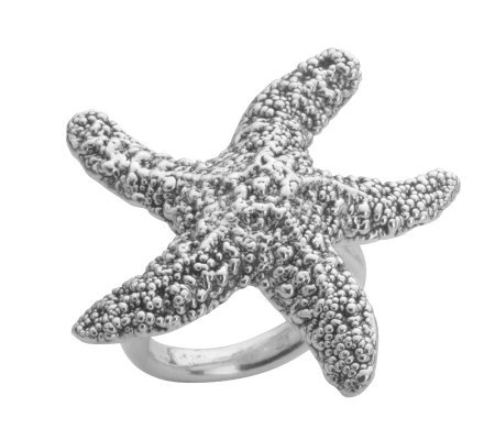Or Paz Sterling Starfish Ring
