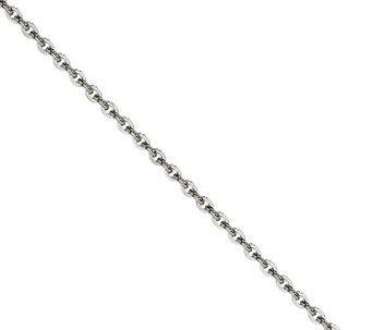 "Stainless Steel 2.30mm 18"" Cable Chain Necklace - J308704"