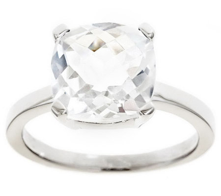 Sterling 3.10 cttw Cushion Cut Gemstone Ring