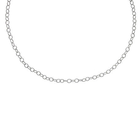 "Judith Ripka Harlow 36"" Chain Necklace, Sterling"