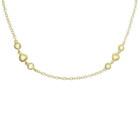 "Judith Ripka Sterling Yellow Diamonique 18"" Necklace, 14K Cla"
