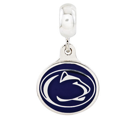 Sterling Silver Penn State University Dangle Bead