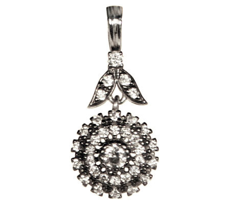 Diamonique 1.45 ct tw Sterling Floral Pendant