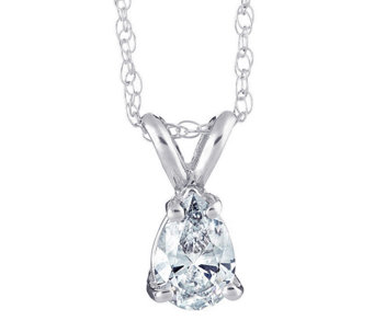 Pear Shaped Diamond Pendant, 14K Gold, 1/4 cttw by Affinity - J316904